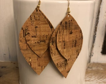 Double cork earrings