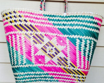 Colorful handwoven Straw bags