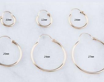 Classic Tube Hoop Earrings, Hoop Earrings, Gold Hoop Earrings, Tube Gold Hoop, Hoop Earrings, Gold Tube Hoops, Classic Hoop Earrings,GFER135