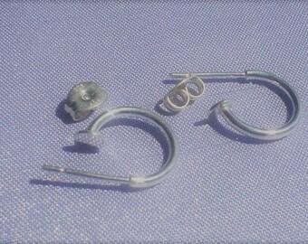 925 sterling silver ear wire Hoop 12 mm / ONE set / ONE pair