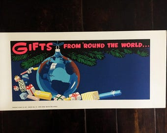 Around the World. Vintage Poster/Sign Sample