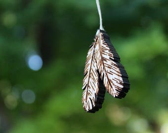Boho feathers necklace, pendant, jewelry
