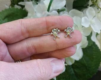 Boy Birthstone Charm Post Earrings - Gifts for Moms - Mothers day gift