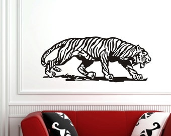 """Tiger Stalking Huge Wall Decal 40""""x17"""""""