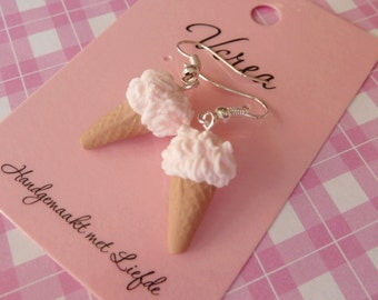 Strawberry Ice Cream Earrings