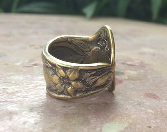 Spoon Ring-Flower Design