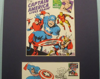 Avengers Assemble! - Marvel Comics Captain America and the Avengers and  First day Cover of the Captain America stamp