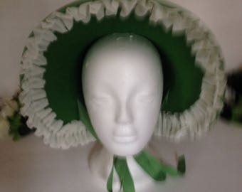 Green Victorian Bonnet.
