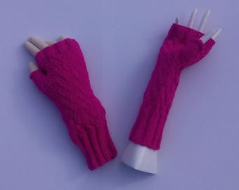 HAND knitted MITTENS for Christmas