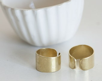 Adjustable brass ring raw solid basics