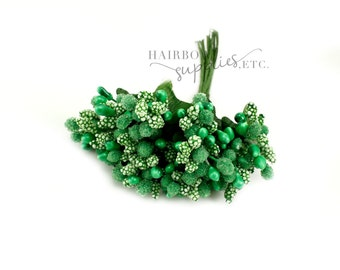 Green Pip Berry Stems 1 inch - Pip Berries, Berry Stamen, Pip Berry Wreath, Flower Making, Flower Stamens, Artificial Berries, Pip Berries