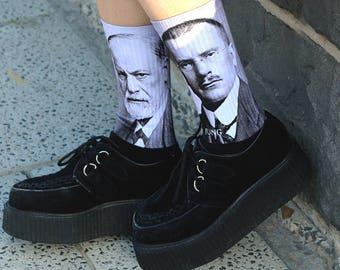 Freud and Jung Socks