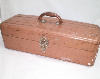Vintage WIZARD tacklebox - ready to load up with your vintage tackle, lures, bobbers, and jellies