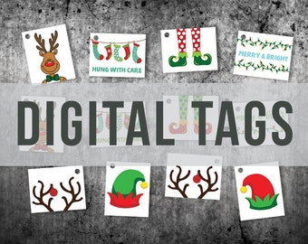 Christmas Gift Tags  | Set of 12 | DIGITAL | Fun Christmas Bag Tags | Gift Tags | Christmas Present Tags