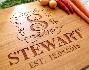 Personalized Cutting Board - Engraved Cutting Board, Custom Cutting Board, Wedding Gift, Housewarming Gift, Anniversary Gift W-001 GB