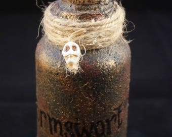 Nightmare Before Christmas Wormswort Potion Bottle//Movie Themed Decor//Movie Props