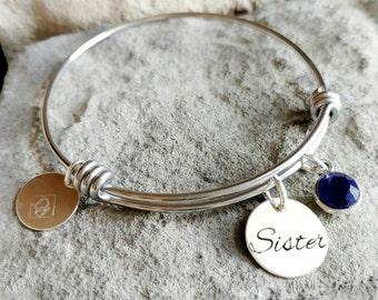 Sister Bracelet - Sister Gift - Bridesmaid Bracelet - Maid Of Honor Bracelet - Sister Jewelry - Sister Charm Bracelet - Gift for Sister