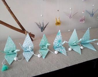 Garland origami cranes