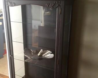 Vintage Glass Curio / Display Cabinet Hutch