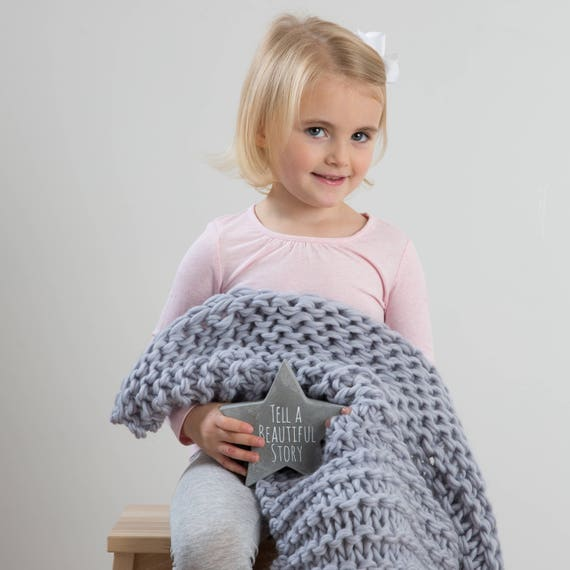 Beginners Knitting Kit Baby Blanket Diy Knit Kit Learn To