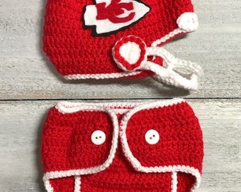 Baby Football Team Sports Helmet and Diaper Cover. More Teams Available. With Detachable Face Mask
