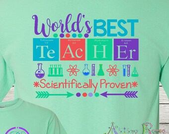 Monogrammed World's Best Teacher Life Personalized Customized Science Teacher