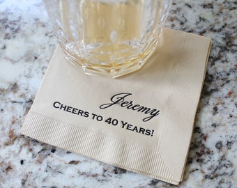 Fully Customizable Napkins - You Choose Your own Fonts and Designs!