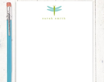 personalized notePAD - DRAGONFLY - stationery - stationary - letter writing sheets - nature lover gift