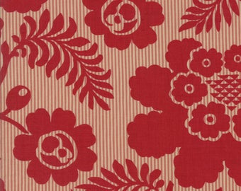 Madame Rouge By French General Moda Fabrics Deep Red Floral 100% Cotton Quilt Fabric by the 1/2 yard #13774-11