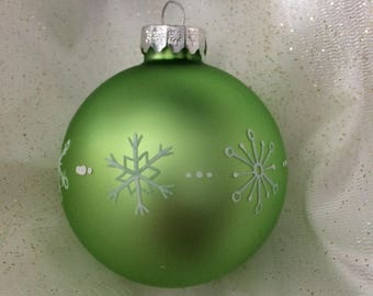 Light Green Handpainted Christmas Ornament