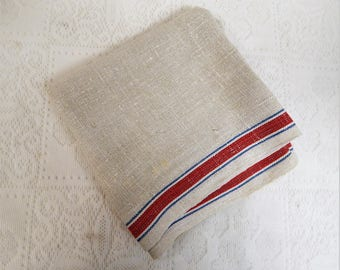 Vintage Grain Sack Linen Farmhouse Towel for Kitchen Roller