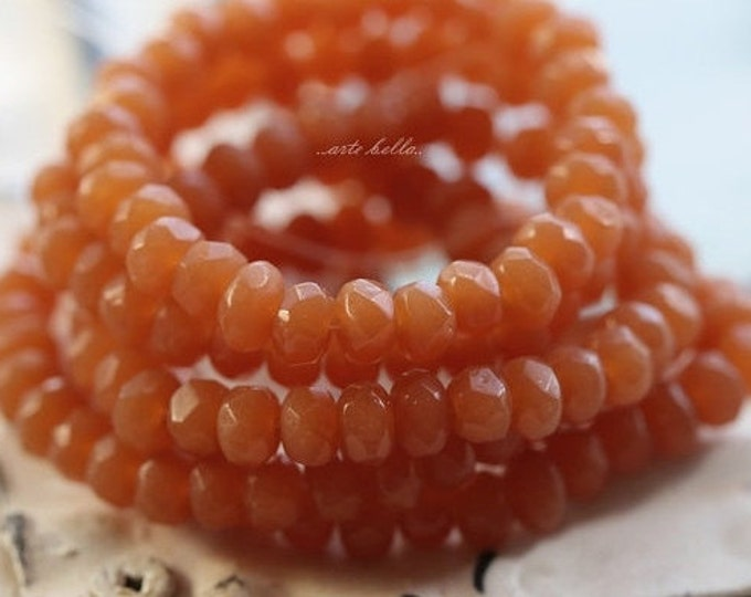 APPLE CIDER BITS .. 30 Premium Picasso Czech Faceted Glass Beads 3x5mm (4819-st)
