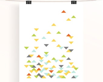Triangle geometric print - abstract poster - home wall art - nursery print - home decor - nursery art