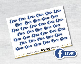 Stickers. FACEBOOK LIVE. Stickers