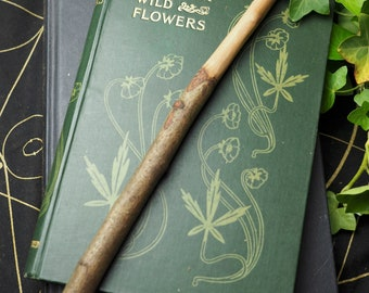 Hand-carved English Hawthorn Wood Wand - Heart-Healing & the Fey -  Pagan, Wicca, Witchcraft, Ritual Tool