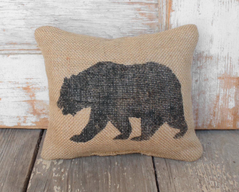 The Black Bear - Burlap Feed Sack Doorstop -Bear Door Stop - Rustic Cabin Decor - Woodland animals - black bear decor & The Black Bear - Burlap Feed Sack Doorstop -Bear Door Stop - Rustic ...