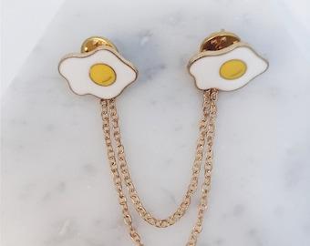Egg collar pin; egg accessory; eggs; egg pin