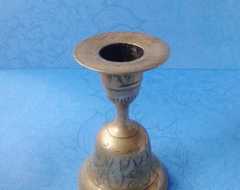 Brass Candlestick and Bell
