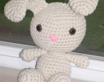 Sweet Spring Bunny - Vanilla Crochet Bunny Doll - Easter Gift - Eater Bunny - Easter Basket Filler
