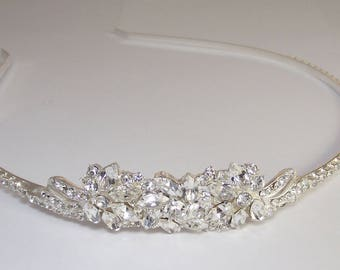 Wedding Crown, Wedding Tiara, Bridal tiara, Crystal Wedding Headpiece, Crystal Wedding Tiara, Silver Tiara, Boho Wedding Halo