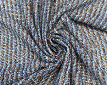 Blue Orange Party Confetti Sweater Knit Fabric - 1 Yard Style 6253