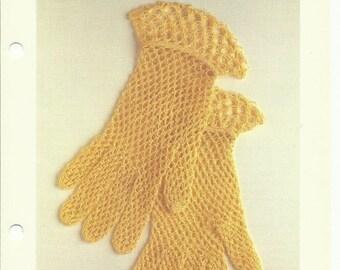Beautiful lace gloves crochet pattern digital download solmon's knot stitch