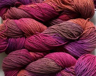 Little Cable, hand painted, cotton, 225 yds - Red Oak