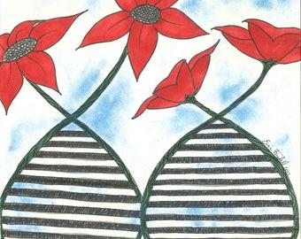 Flowering Genetics Print