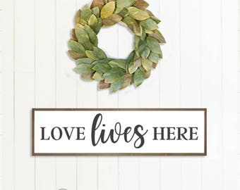 Love Lives Here Farmhouse Style Sign, DIY, Instant Download, Printable, SVG