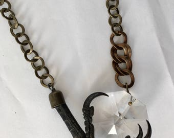 Crystal Crow Claw Necklace