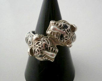 Sterling Silver Tigers Ring adjustable.