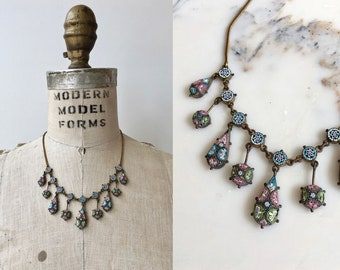 Serenissima necklace | 1920s Italian micro mosaic necklace | vintage 20s necklace