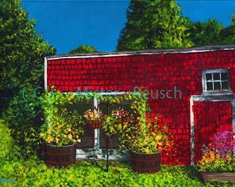 Early Summer Light on John Greenleaf Whittier Birthplace Signed Print by Mark Reusch