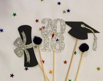 Graduation Centerpiece Sticks 2016, Graduation Party, Party Decor, Graduation Decorations, Graduation, Class of 2016 , Party